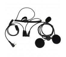 Гарнитура для встраивания в летный шлем для радиостанции Kenwood или Baofeng